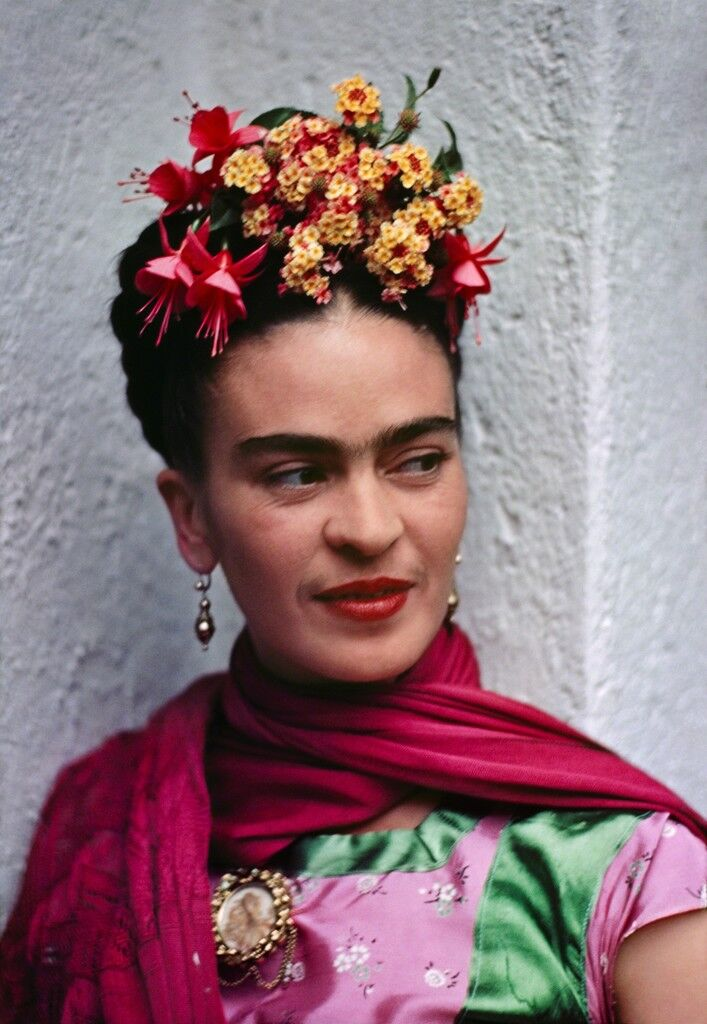 Frida, Pink/Green Blouse, Coyoacan
