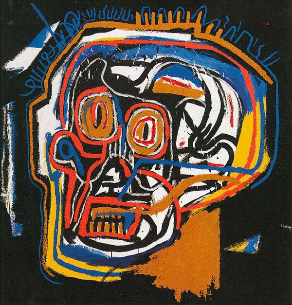 UNTITLED HEAD 1983 BY JEAN-MICHEL BASQUIAT