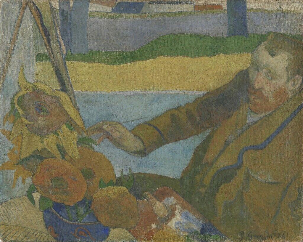 Vincent van Gogh Painting Sunflowers