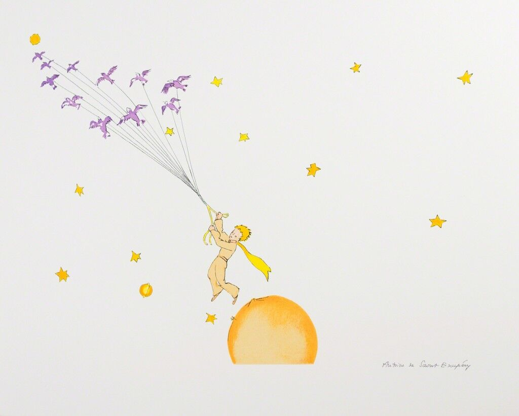 The Little Prince Flying Away