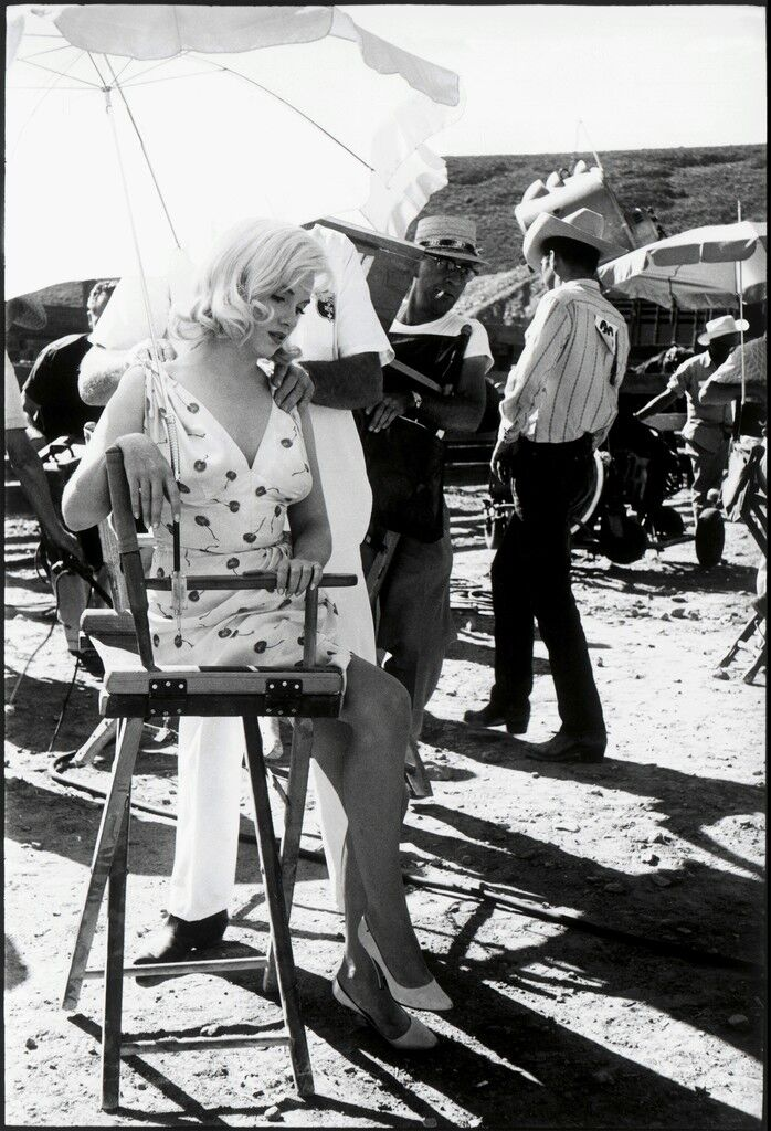 American actress Marilyn Monroe on the set of 'The Misfits'. Reno, Nevada. USA.