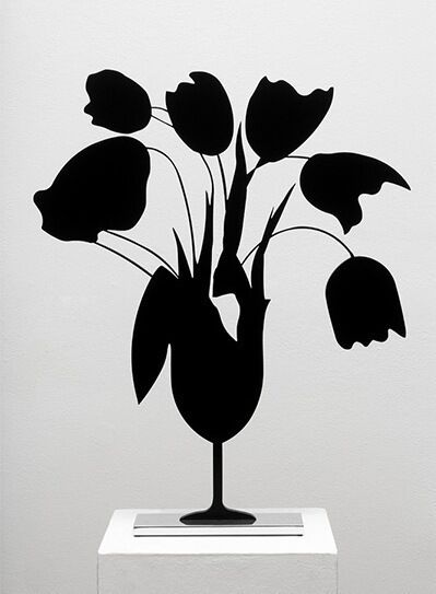 Black Tulips and Vase, April 5th, 2014