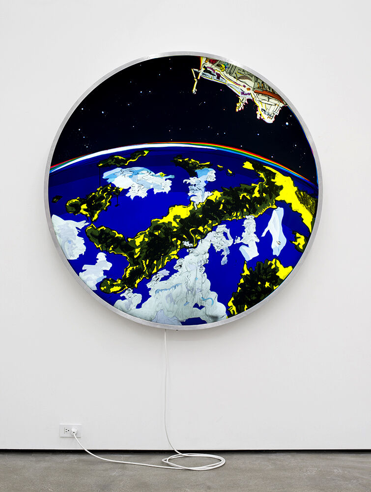 KeyHole Satellite  USA-224 (Conceptual Rendering-Actual Photos of USA-224 are Classified) Mediterranean Sea Sunrise