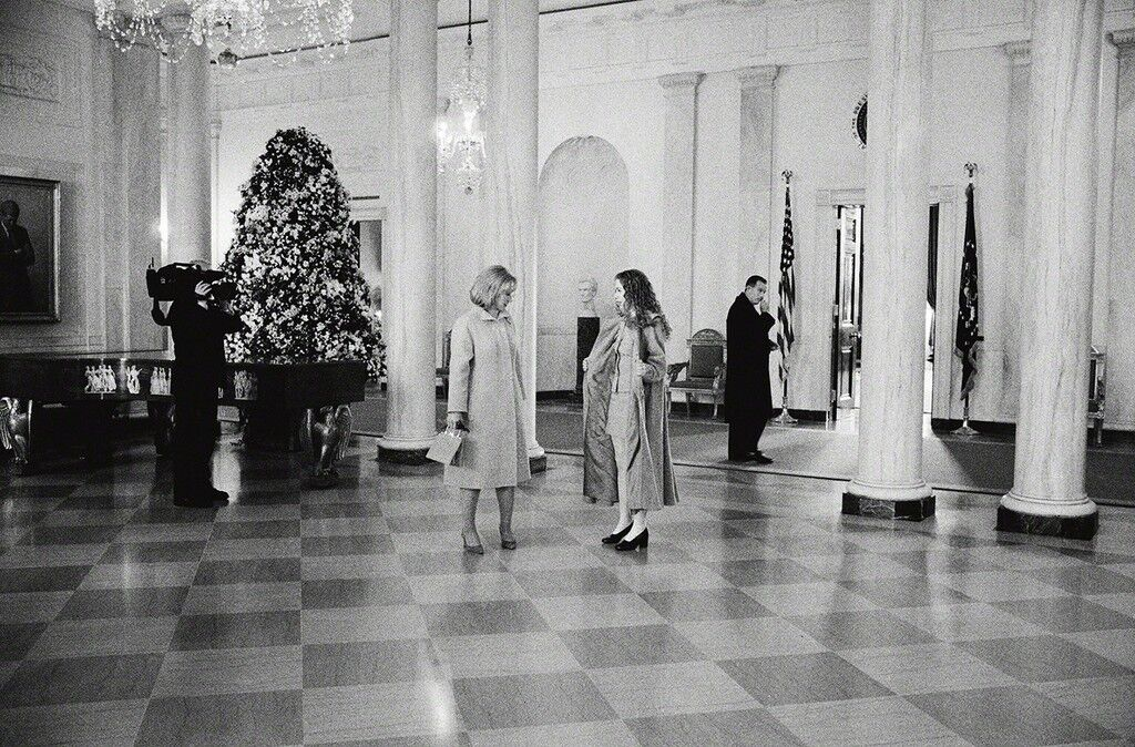 Hillary and Chelsea Clinton, State Floor, the White House