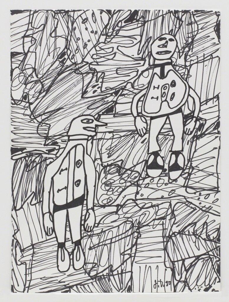 Paysage avec 2 personnages