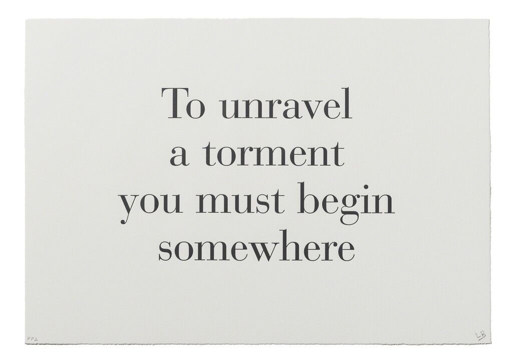 """""""To Unravel a Torment You Must Begin Somewhere"""" from """"What is the Shape of this Problem?"""""""