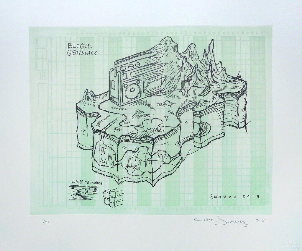 Bloque geologico (green) - Framed