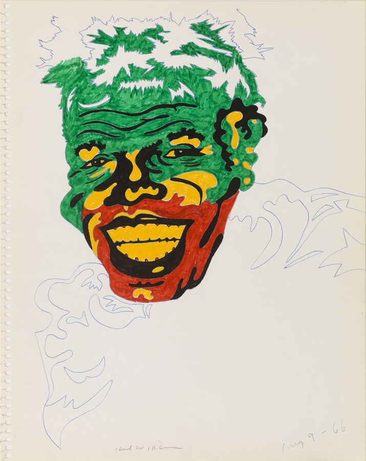 """Untitled (Study for James Brown as Conrad Veidt in """"The Man Who Laughs"""")"""
