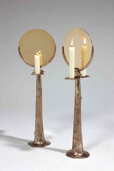 Candelabro con specchio