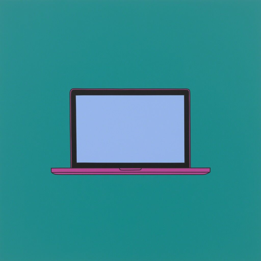 Untitled (laptop turquoise)