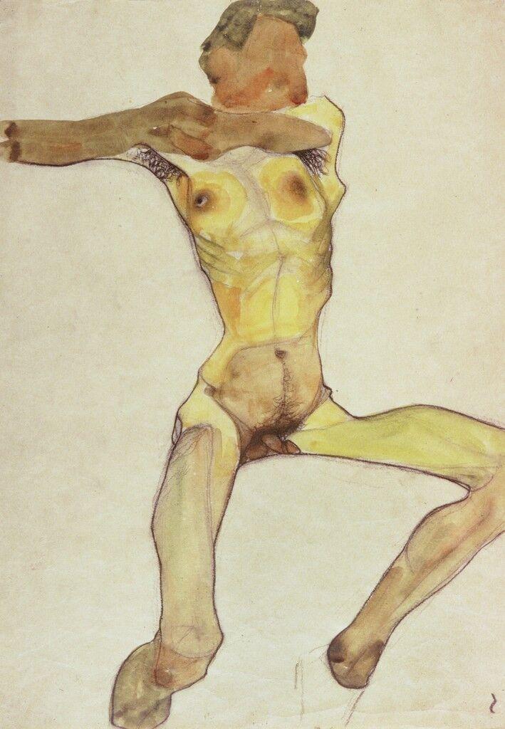 Male Nude, Yellow