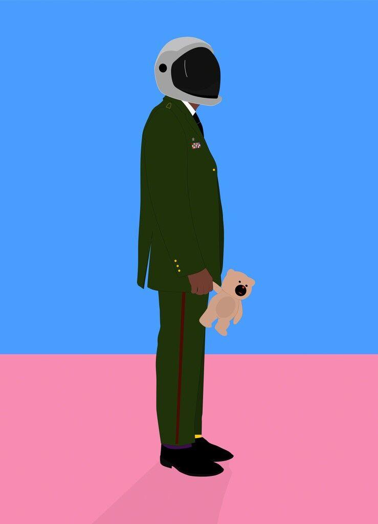 Nigerian Soldier With Teddy
