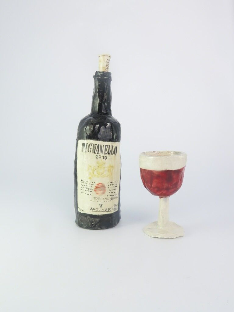 Tignanello with wineglass