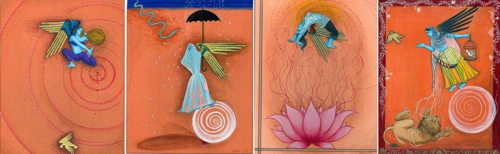 Fereshtini #6-9 (Polyptych)