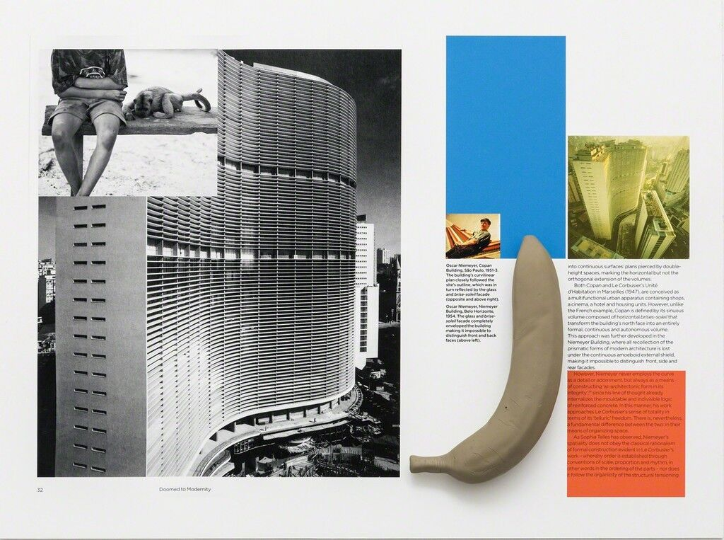 Interventions on a book (Copan-Duchamp with banana)