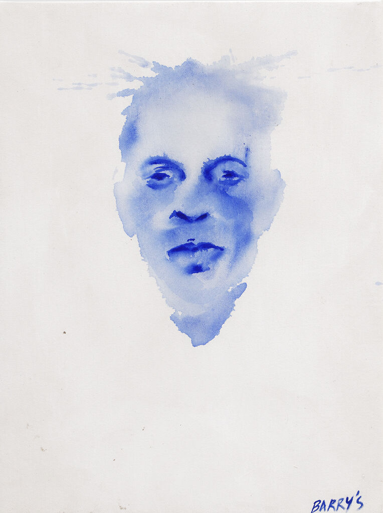 Visage Anonyme bleu 1
