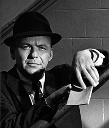 "Frank Sinatra on the set of ""The Detective"", 67th Street Precinct, New York"