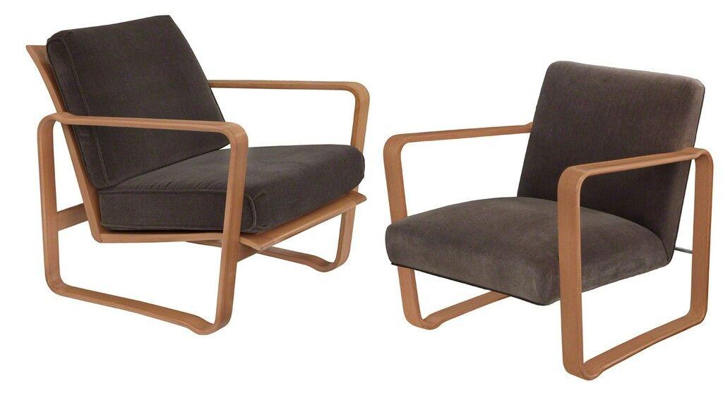 """Pair of Rare """"Modern Morris Chairs"""""""