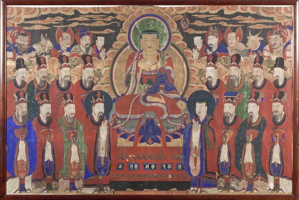 Chichang Bosal (Ksitigarbha Bodhisattva) and the Ten Kings of Hell