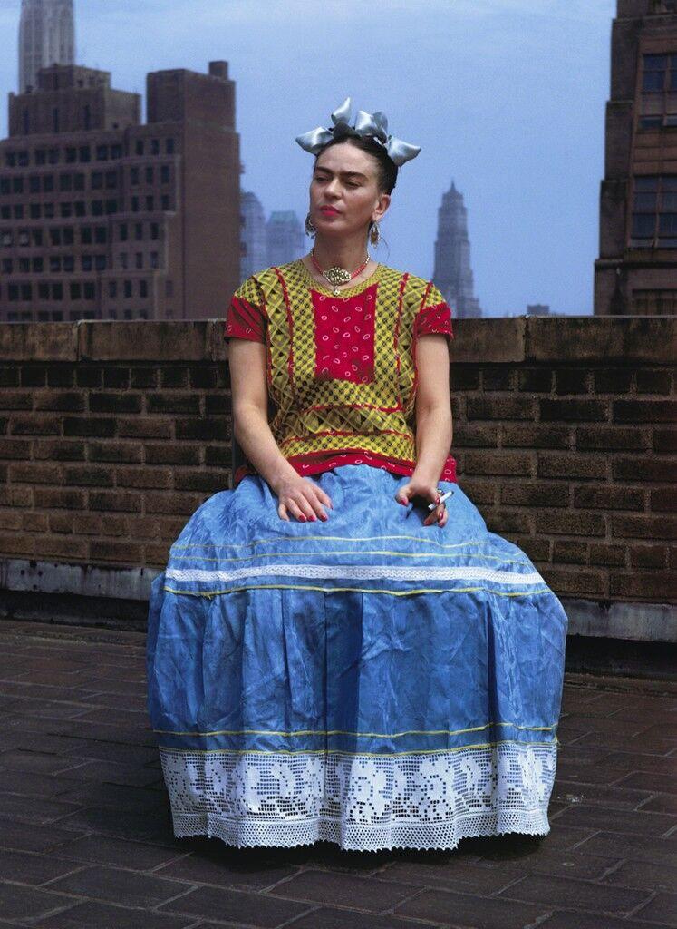 Frida en la azotea, Nueva York