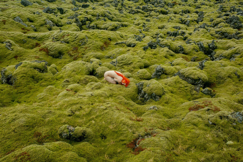 Self Portrait in Lava Field, Huldufólk, Iceland