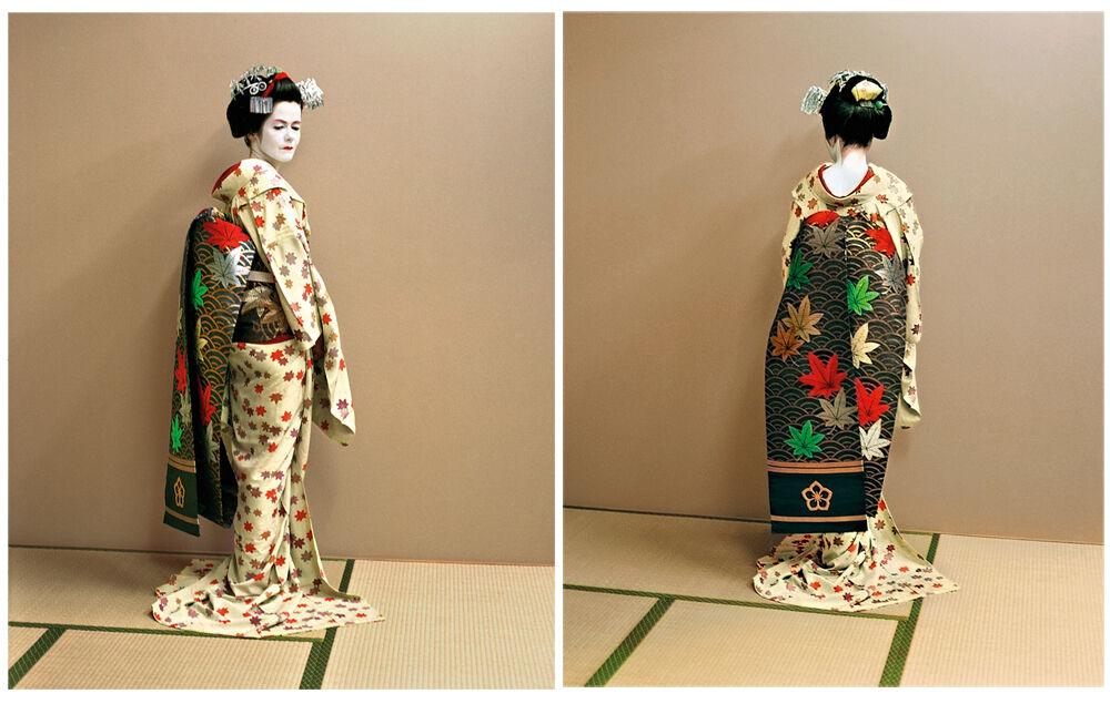 The maiko as an artist, the artist as a maiko. Kyoto, Japan Self-portraits 11 June 2004