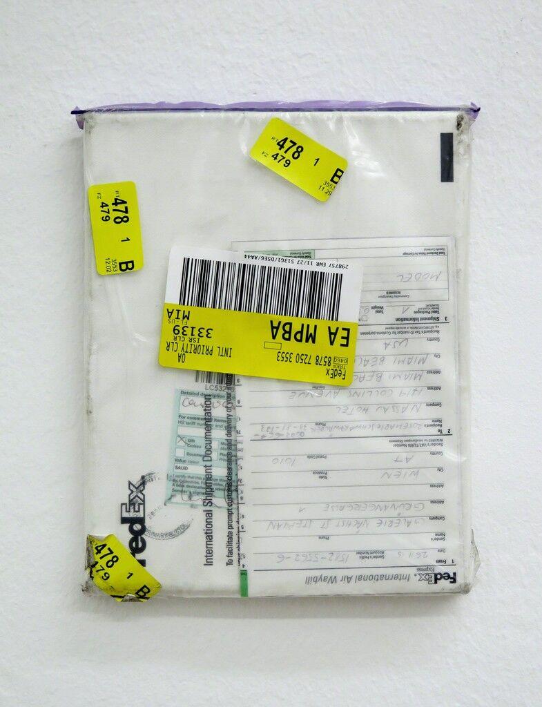Mailed Painting 92, Sydney-Pittenweem-München-Berlin-Wien-Miami-Wien