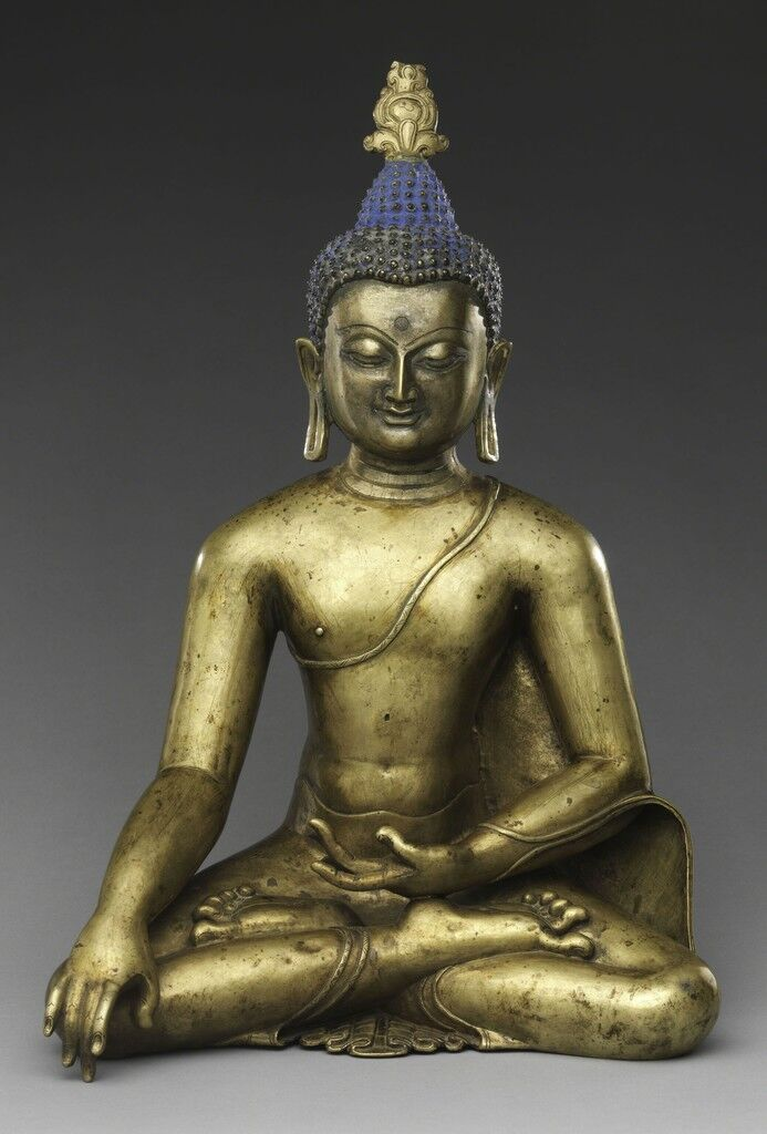 Seated Buddha Reaching Enlightenment. Central Tibet