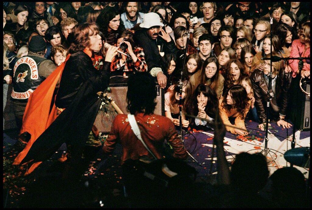 Mick Jagger on Stage at Altamont, December, 1969