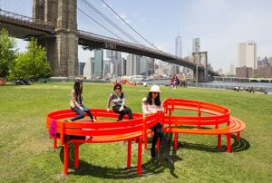 New Yorkers Get a Playground in Jeppe Hein's Interactive Sculpture Park