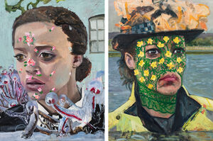 Dawn Mellor's Portraits of TV Policewomen Are Arrestingly Surreal