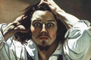 """Probing Gustave Courbet's Inner Thoughts in """"The Desperate Man"""""""