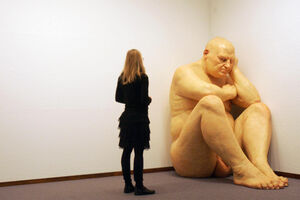"""I'm Obsessed with Ron Mueck's """"Big Man"""""""