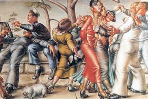 When Paul Cadmus's Homoerotic Military Painting Launched a National Scandal