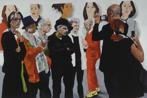 In Brussels, Fairgoers Find an Unlikely Subject  in Eric Fischl's Paintings—Themselves