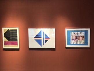 Prints from the 70's; Nevsleson, Stella, Graves, Bolotowsky & Agam, installation view
