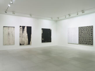 'First, look at the paintings. Then we'll shoot the shit.', installation view