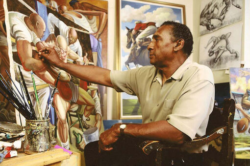 How Ernie Barnes's Paintings Became Celebratory Emblems of Black Southern Life