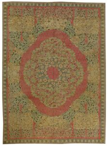 Vintage French Deco Rug by Paul Follot, BB5993
