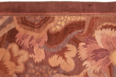 Vintage French Deco Rug by Paul Follot, BB5243