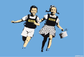 Banksy, 'Jack and Jill (Police Kids)', 2015