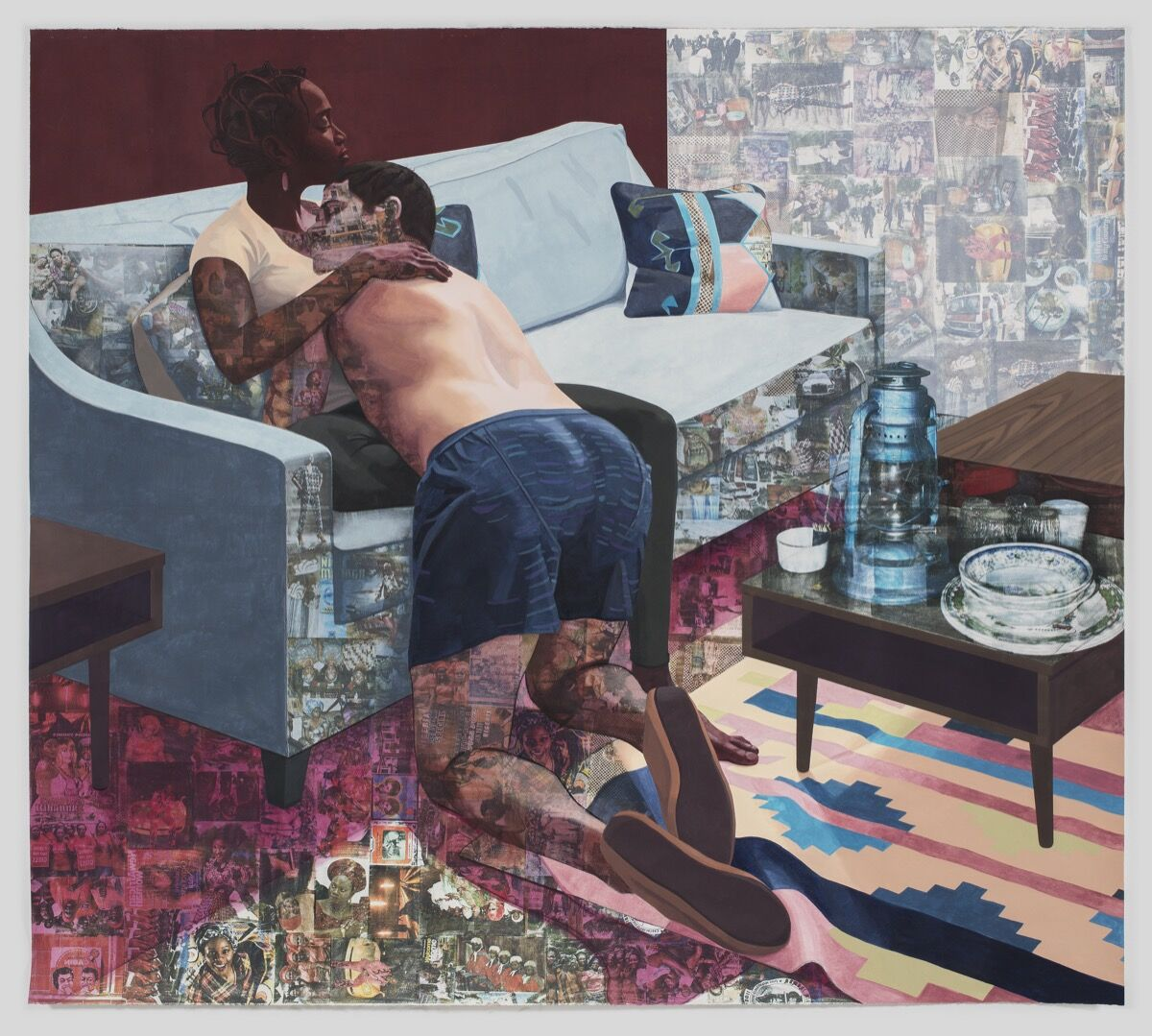 Njideka Akunyili Crosby, Ike Ya, 2016. © Njideka Akunyili Crosby. Image courtesy of the artist and Victoria Miro, London.