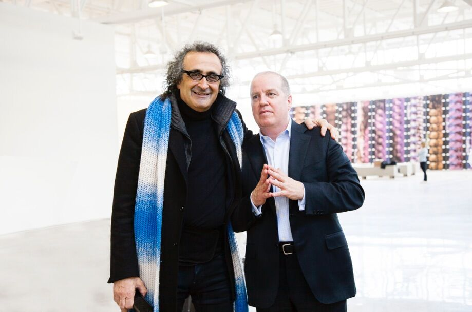 Mana Contemporary founders Yigal Ozeri and Eugene Lemay (L-R). Photo by Crystal  Gwyn.