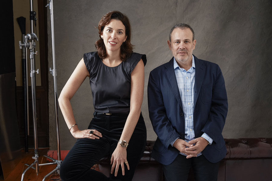 Portrait of Amy Cappellazzo and Allan Schwartzman of Art Agency, Partners, courtesy of Art Agency, Partners. Photo by Roe Etheridge