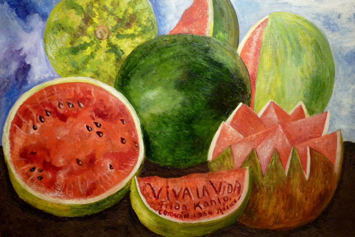 Frida Kahlo, Viva la Vida, Watermelons, 1954. Photo by Jen Wilton, via Flickr.